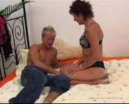 Luscious GILF gets her fuck hole worked out by her own sex-hungry grandson