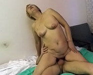 Young guy shows his mature blonde mom what hardcore sex is all about