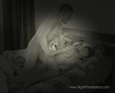 Sly guy wakes his younger sister up in the night to get some incest loving