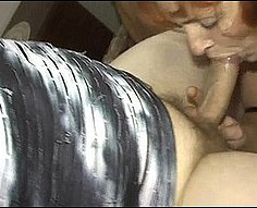Big momma thrown in an orgy with two own hung sons