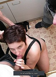 Mature housewife gets gangbanged by her three sons