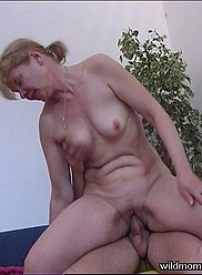 Cock hungry mother seduced her son and sucked his dick