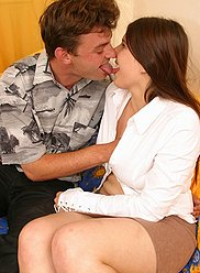 Insatiate dad banging his busty daughter in her bedroom