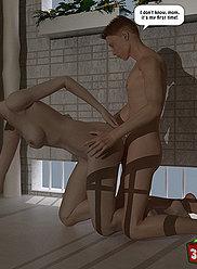 Maman prend des fils à la piscine pour le sexe