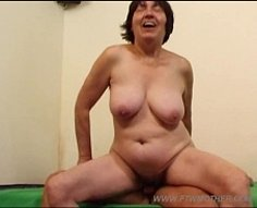 Plump mature shortie gets it on with her handsome hunky son in front of cam
