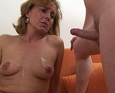 Young, loving son is fucking his mother's horny pussy