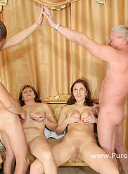 Horny incest family of four get it on like a bunch of sex-crazy rabbits