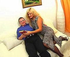 Slim young blonde gets a creampie