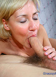 Busty daughter blonde rides hard fathers cock