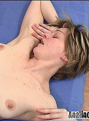 Cute blonde mom moans from anal fucking