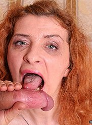 Redhead mother is being fucked by her pussy hungry son