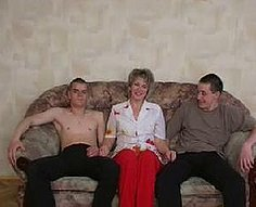 Voracious mother seduces her inexperienced teen sons