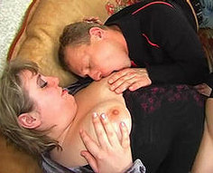 Horny boy gets rubber in his ass from own hot mother