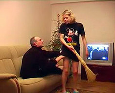 Brutal father forced to fuck own daughter