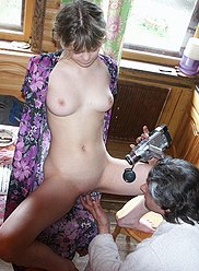 Perverted teen daughter seduces her mature dad
