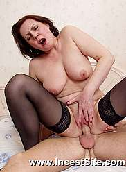 Horny oldie in lingerie is banged hardly in pussy by her cousin