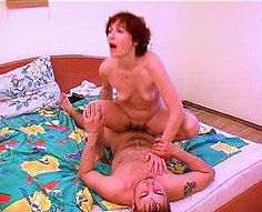 Voracious mature mother takes advantage of her son's cock