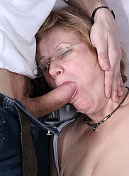 Two boys taste their hot mother first time