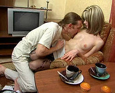 Teen blonde shafted