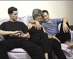 Mom in sexy lingerie seduced by her own sons