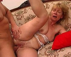 Part1.Horny mother sucks her son's dick and gets fucked hard