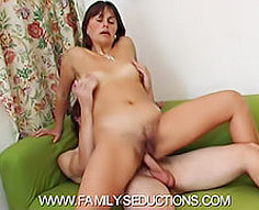 Lustful mama gets it from her own son – see them go down on HQ video