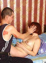 Un fils ivre baise sa mère