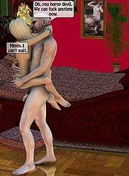 3D Incest Gallery # 5 - Papa baise jeune fille