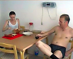 Shocking family sex after breakfast