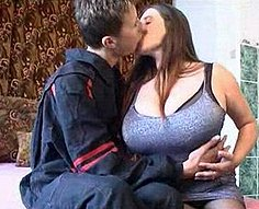 Young brother fucks his busty older sister