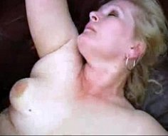 Chubby old slut addicted to doggy-style sex takes her muscled son's shlong