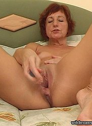 Sexy older mother is seducing and fucking her son's cock