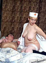 A horny mature nurse provides