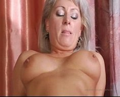 Ripe mature lady with great jugs enjoys the stiffness of her sonny's shlong