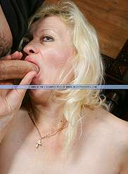 Raunchy mommas serviced by all sons together