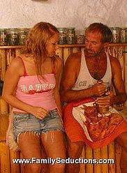 Delicious blonde starlet screwed by her horny dad – see the pics here