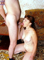 Perfect mom's blowjob for son