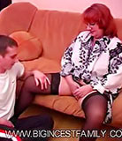 Boy stuffs his rod between the fleshy legs of his granny