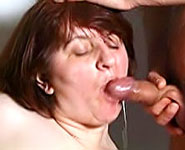 Son's stiffy ravishes the holes of mother and fills her throat