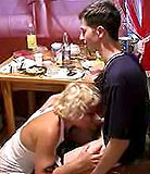 Drunk Incest video 4 | Mamas gone crazy! See her attack her own son