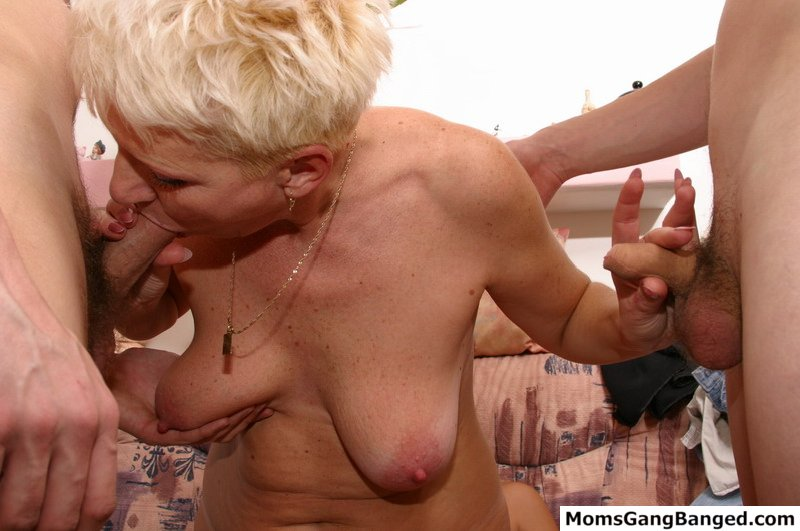 Old young bisexual threesome
