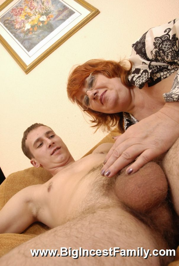 Mean Sister Films Her Brother Stuffing Granny With His Dick-4042