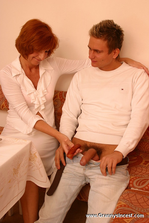 Mom fucks with her son friend 8