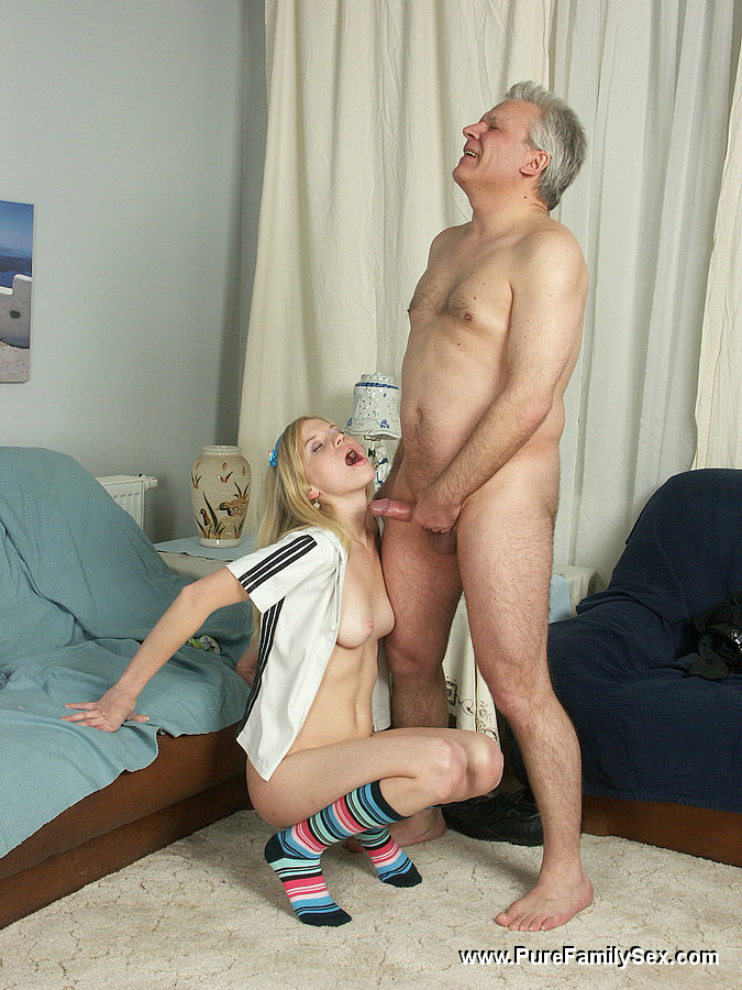 Daddy daughter having sex